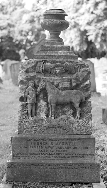 The grave of George Blackwell