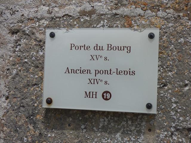 Porte du Bourg - Flavigny-sur-Ozerain - plaque