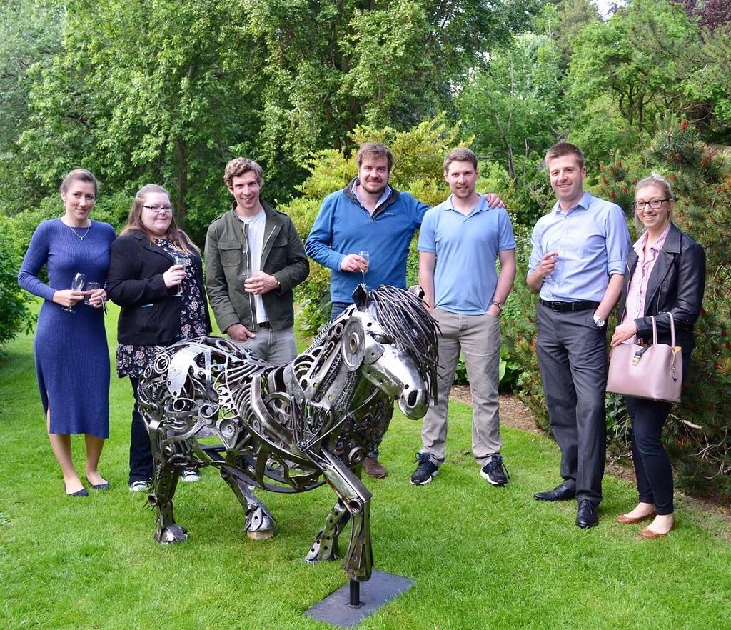 Magnus with Artist & Sculpturer Steve Burke & family | Flickr