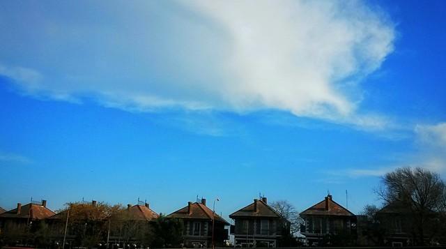 White & Blue Town...