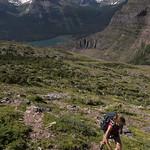 Kristen climbing Goat Mountain