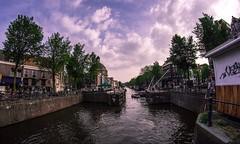 Atardecer en Amsterdam