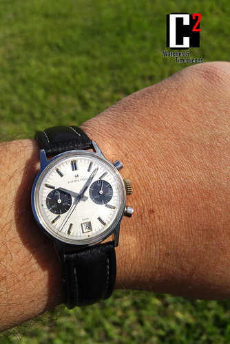"Vintage Hamilton Swiss made Chronograph ""Panda"" 