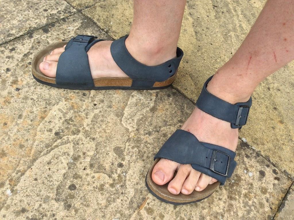 fbdf9271 Birkenstock New York sandals | Basalt blue nubuck leather | Flickr