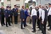 Begrüßung der Ehrengäste, in der Bildmitte Bürgermeister und Vizebürgermeister aus Billed