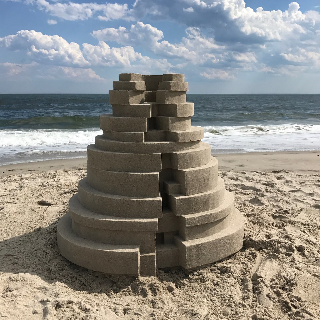 Sandcastle built in brutalist style