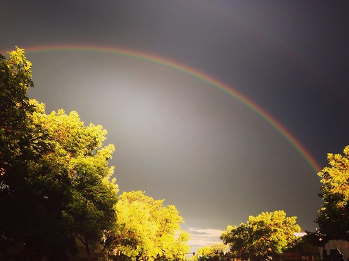 perspective pointofview goldenlight williamcarloswilliams redwheelbarrow darksky doublerainbow rainbow