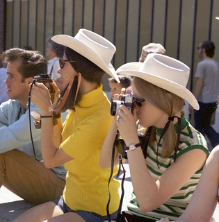 Taking photographs at the Calgary Stampede