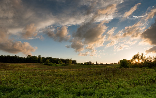 landscape nature hiking trail ontario sunset field caledon trailway canada ca
