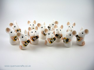 Tiny Manchester Bee Mice | by Quernus Crafts