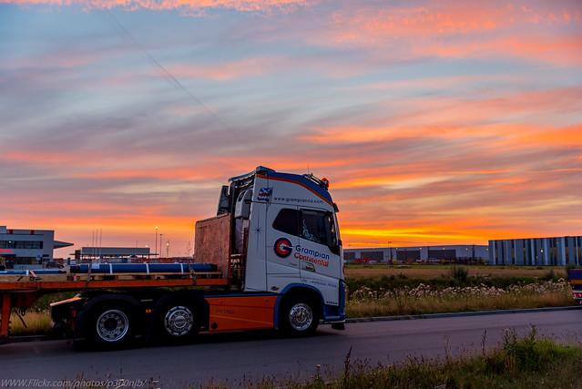 Nice sunset from Den Helder-Netherlands tonight ..