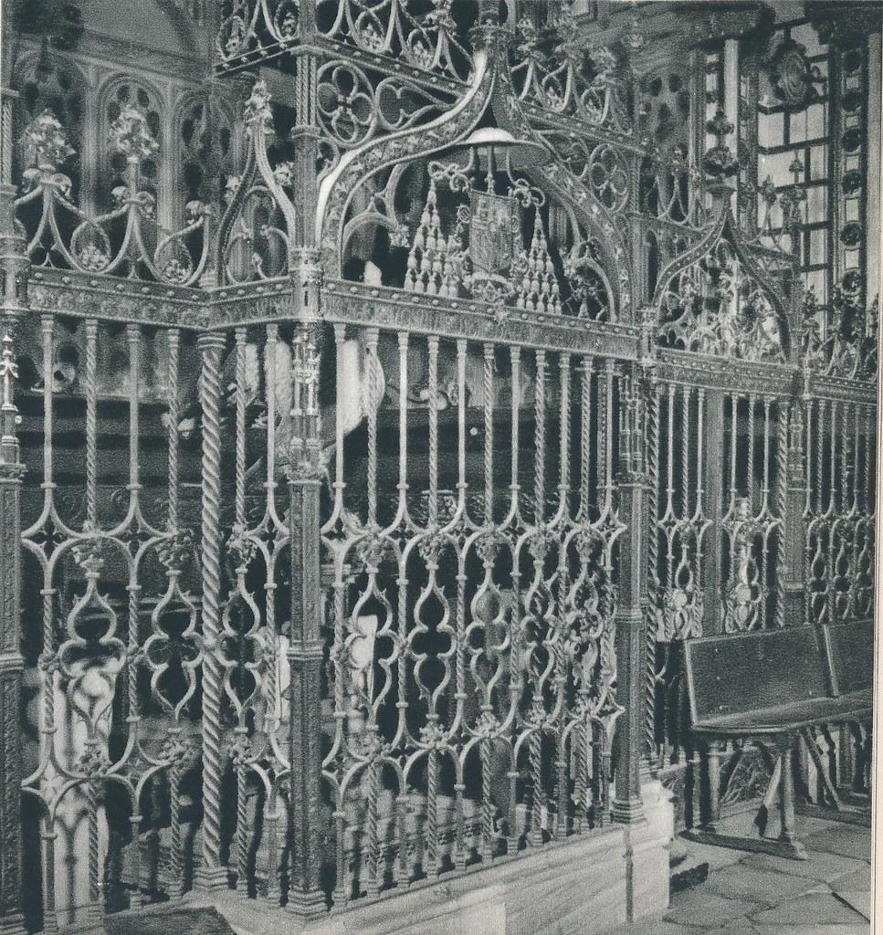 """Reja de la Capilla Mozárabe obra de Julio Pascual. Libro de Víctor Crastre. Foto de Jean Dieuzaide  """"Yan"""""""