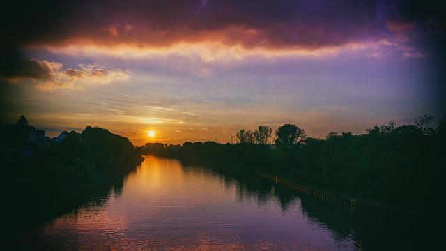 Sonnenuntergang über Wesel-Datteln-Kanal