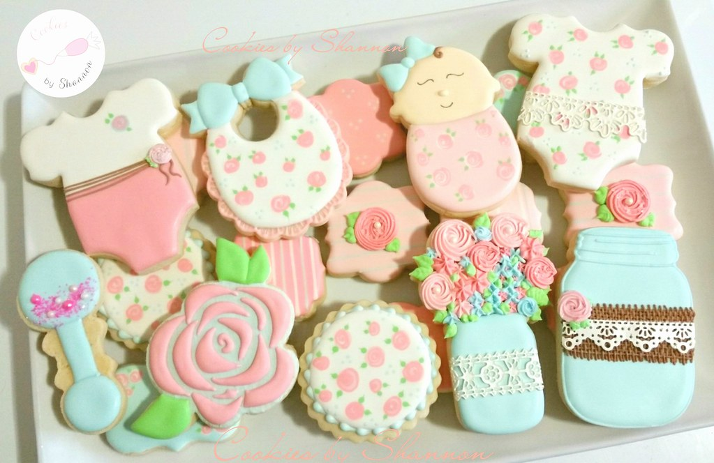 2fe467dfaca9e Shabby chic baby shower cookies | Shannon Tyler | Flickr