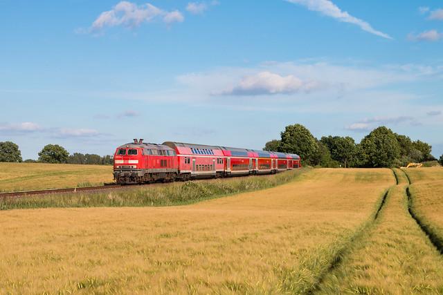 DB 218 473 mit RE nach Kiel bei Wahlstorf - 17.06.17