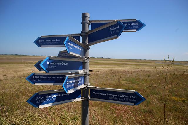Signpost on Wallasea Island