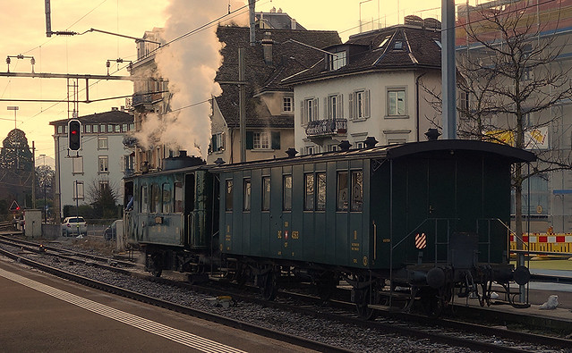 Steam railcar CZm 1/2 Nr. 31 in Horgen (Switzerland)