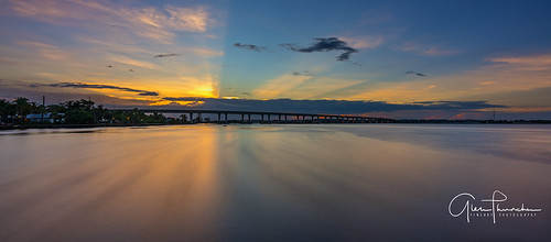 sony a7r2 sonya7r2 ilce7rm2 zeissfe1635mmf4zaoss fx fullframe longexposure scenic landscape waterscape nature outdoors sky clouds colors reflections sunset stuart rooseveltbridge martincounty florida southeastflorida stlucieriver