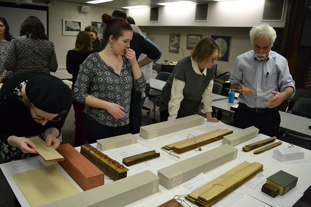 Mellon Sawyer Seminar Feb. 2017 U. Iowa palm leaf manuscript workshop with Jim Canary