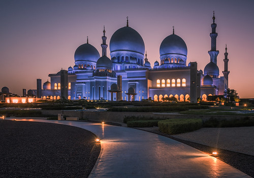 sheikhzayedgrandmosque grandmosque abudhabi architecture morning nopeople sunrise mosque