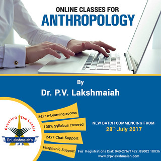 Online Classes for Anthropology by Dr. P V Lakshmaiah Sir.