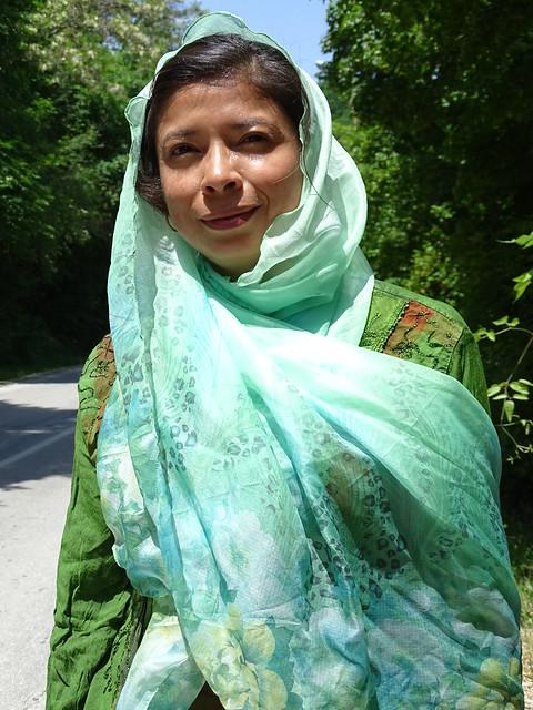 Visitor (Griselda Ramirez) outside Sighnaghi - Georgia