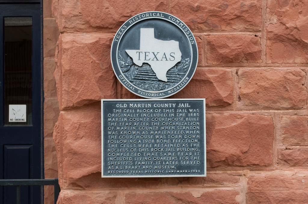 Old Martin County Jail | Historic marker in Stanton, Texas