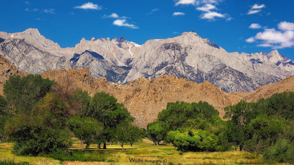 Mount Whitney.   Sierra Nevada. Lone Pine, Owens valley ...
