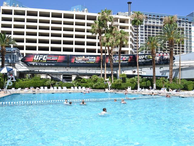 Monorailing poolside