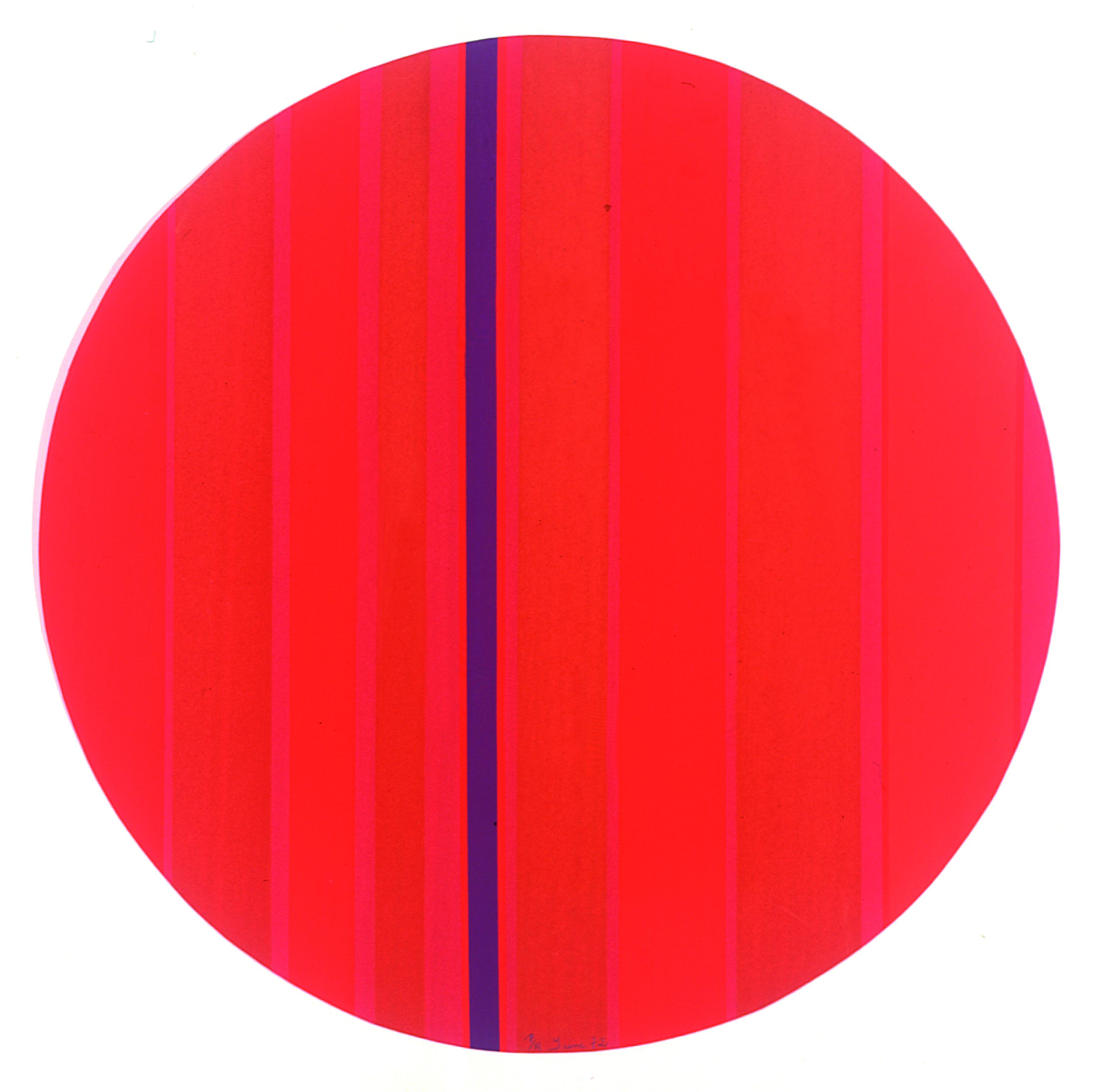Geométrico Circular Autor: Irene Buarque Ano: 1972 Técnica: Serigrafia (P.A.) Dimensão: 63cm x 63cm