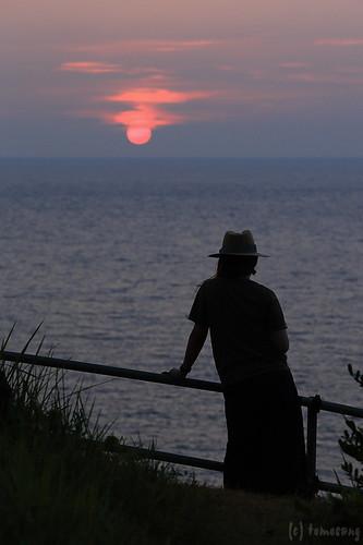 japan nagasaki hirado 長崎 平戸 平戸大橋 夕陽 sunset woman silhouette ikitsuki island 生月島 生月農免農道 生月島サンセットウェイ road sunsetway