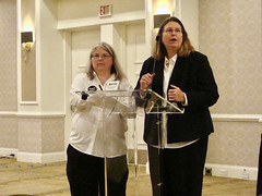 2017 Equality Breakfast - Cindy Bray and Maggie Sacra giving final remarks.