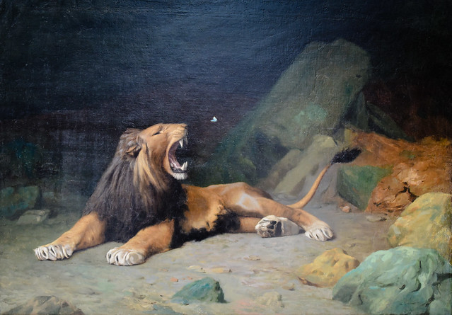 Jean Leon Gerome - Lion Snapping at a Butterfly, 1889 at Carnegie Museum of Art - Pittsburgh PA