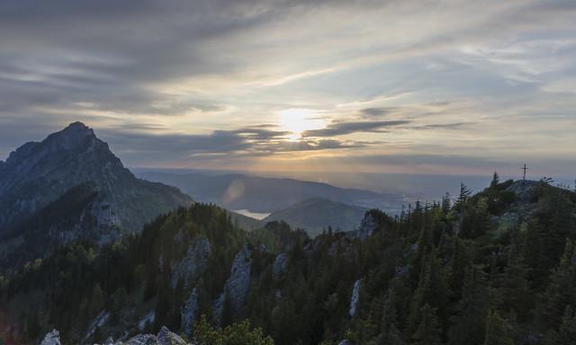 Traunstein, Sunset