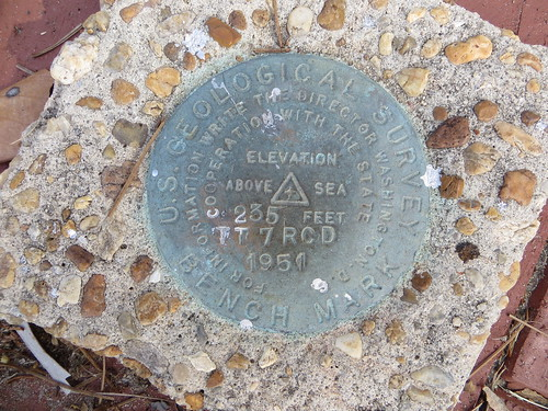 USGS Bench Mark TT 7  RCD 1951 Monticello FL