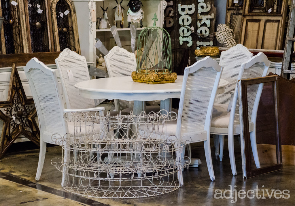 Dining Set and wood and metal decor by Uncle Mike in Adjectives Altamonte