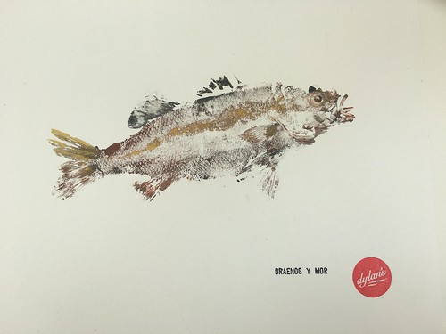 Gyotaku Draenog Y Môr