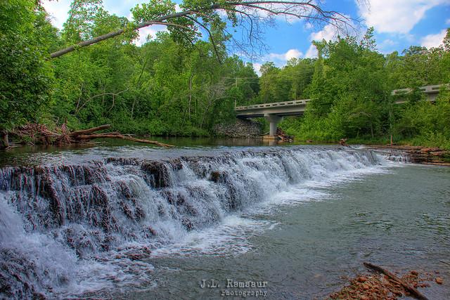 Spring Creek Small Waterfall - Waterloo, Tennessee