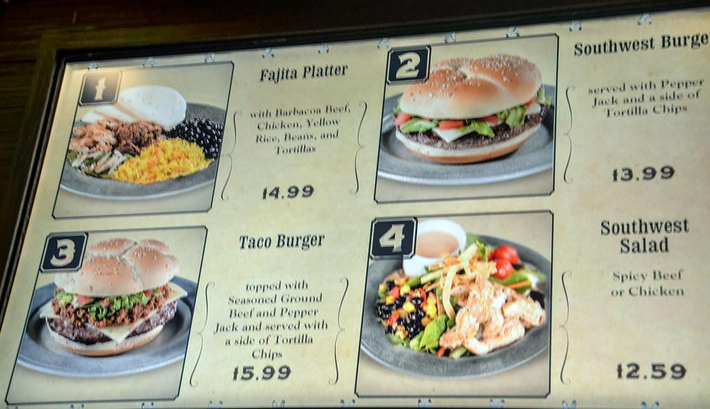 Pecos Bill menu