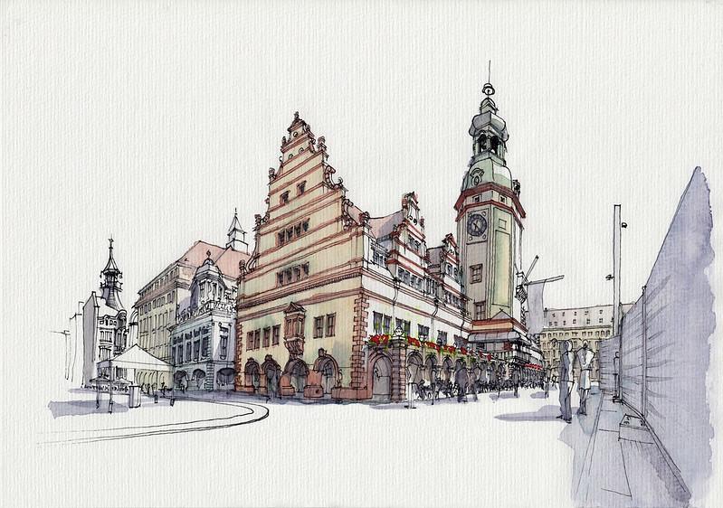 Leipzig, Altes Rathaus + Teehaus