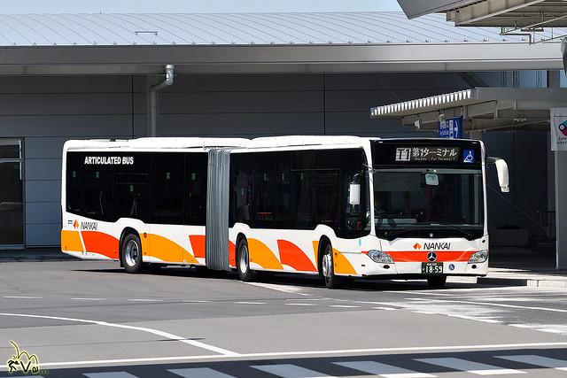 南海バス (Nankai Bus) Mercedes Benz Citaro G Articulated Bus (Euro 6)