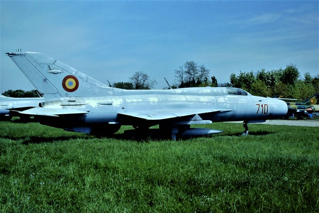 MiG-21PF 710 c/n 760710, ex Romanian Air Force/ FAR. Stored Bacau/Luizi-Calugara Air Base, Romania. 08-05-1999.
