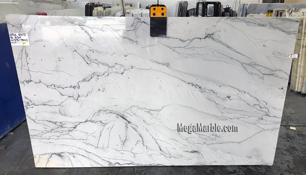 Opus White Natural Stone Quartzite Slabs For Countertops Flickr