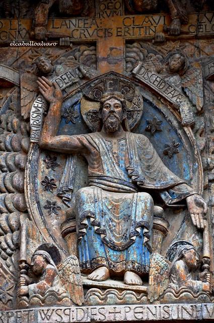 539 – Cristo Majestad - Tímpano - Abadía Sainte Foy – Conques (France).