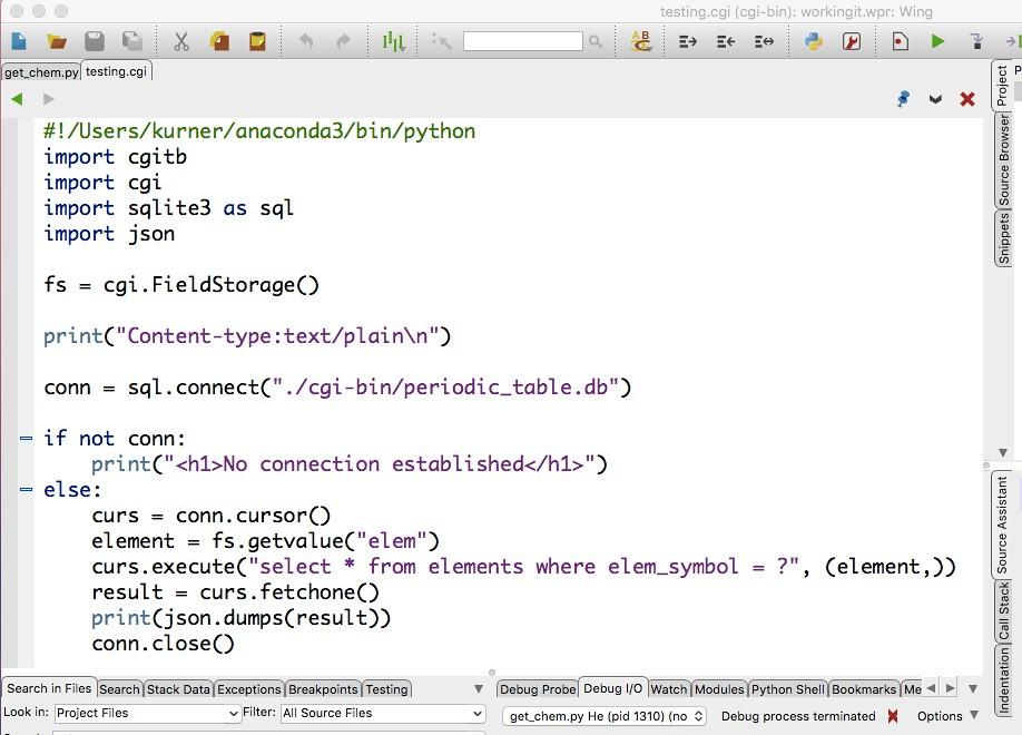 Serving Data | SQLite database, reached through Python, retu… | Flickr