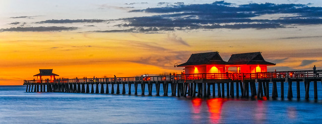 Naples Pier After Sundown