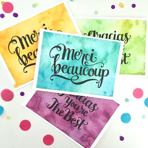 Thank you cards - merci beaucoup | by Kimberly Toney