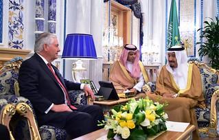 Secretary Tillerson Meets With Saudi King Salman in Jeddah