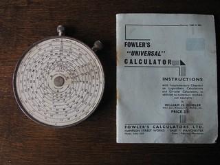Fowler's Universal Calculator (around 1940)