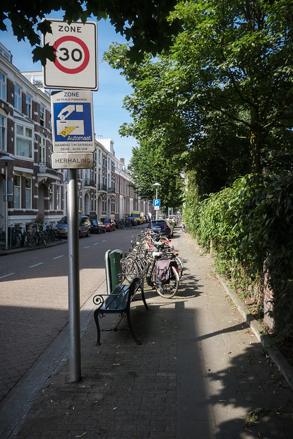Typical City Street in the Netherlands